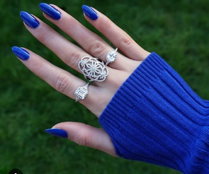 blue, nails, and chic image