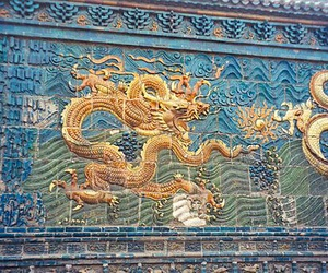 blue, china, and dragon image
