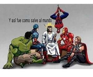 jesus, Avengers, and Marvel image