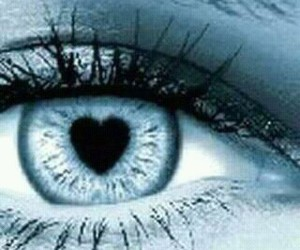 heart, eye, and blue image