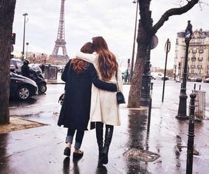 friends, paris, and friendship image
