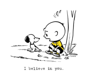 snoopy, believe, and charlie brown image