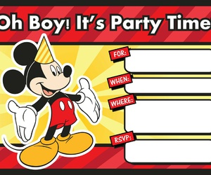 disney, invitation, and mickey mouse image