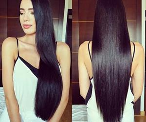 brownhair, hair, and longhair image