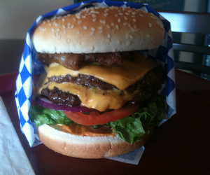 burger, fast, and fast food image