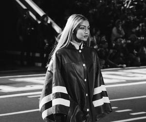 gigi hadid, model, and black and white image