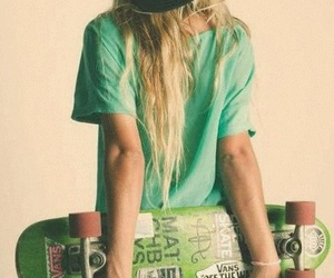 girl, skate, and skater image