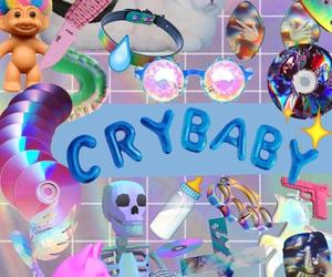 crybaby, melaniemartinez, and rainbow image
