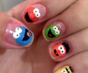 nails, art, and cookie monster image