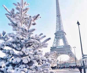 winter, paris, and snow image