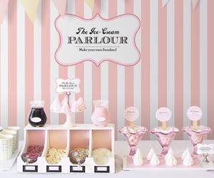pink, ice cream, and sundae image