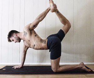 fit, yoga, and men image