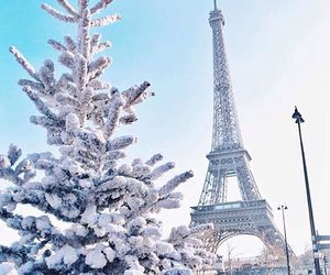 winter, paris, and snow image