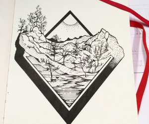 drawing, micron, and pen image