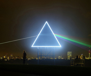 Pink Floyd, light, and city image