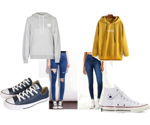 converse, fashion, and hoodie image