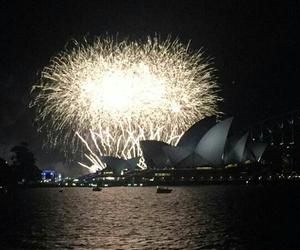 australia, firework, and opera image
