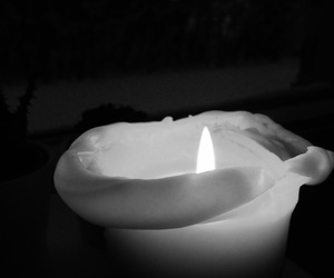bw and candle image