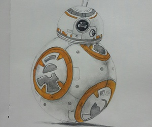 drawing, orange, and starwars image