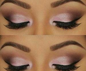 make up, beauty, and eyes image