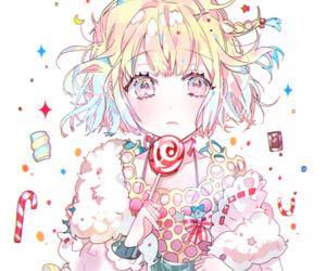anime girl, anime, and candy image