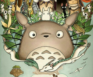totoro, studio ghibli, and anime image