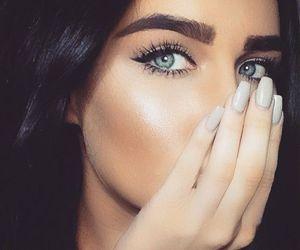 nails, girl, and makeup image