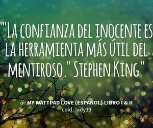 Stephen King, frases en español, and wattpad image
