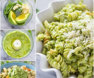food, pasta, and avocado image