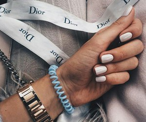 nails, dior, and fashion image