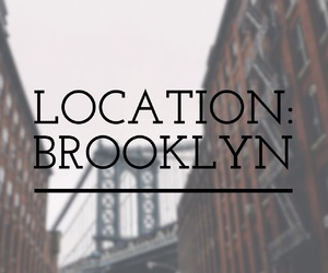 Brooklyn, easel, and font image