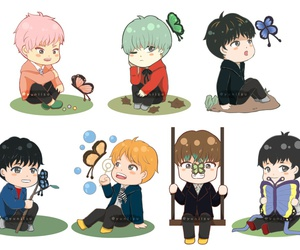 bts, fanart, and army image