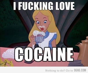 alice, disney, and cocaine image