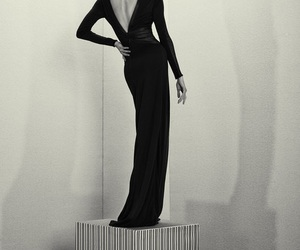 black and white, fashion, and haute couture image