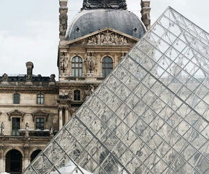 city, louvre, and town image