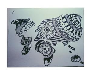 drawing, world, and nice image