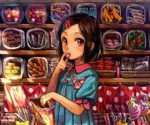 anime, candy, and anime girl image
