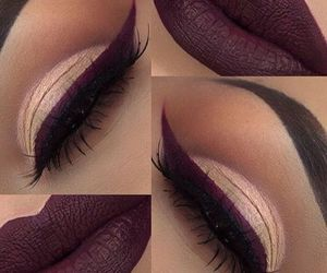 burgundy, lips, and cateye image