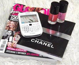 chanel, blackberry, and magazine image