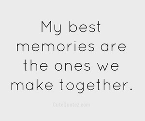 quote, memories, and love image