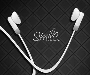 music and smile image