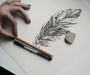 hand, tattoo, and paint image