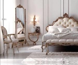 bedroom, luxury, and white image