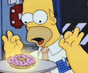 the simpsons, simpsons, and donuts image