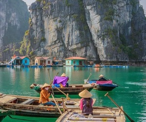 Vietnam, boat, and nature image