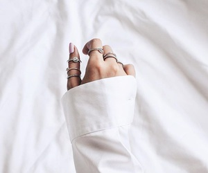 white, fashion, and rings image