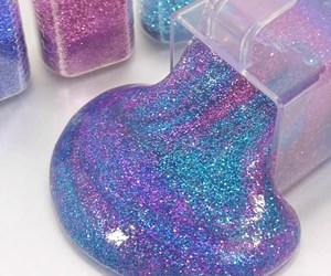 glitter, purple, and blue image