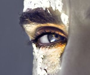 eye, gold, and eyes image