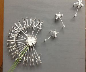 dandelion, picture, and wall image