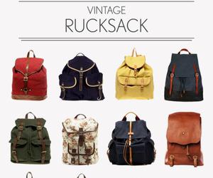bag, vintage, and rucksack image